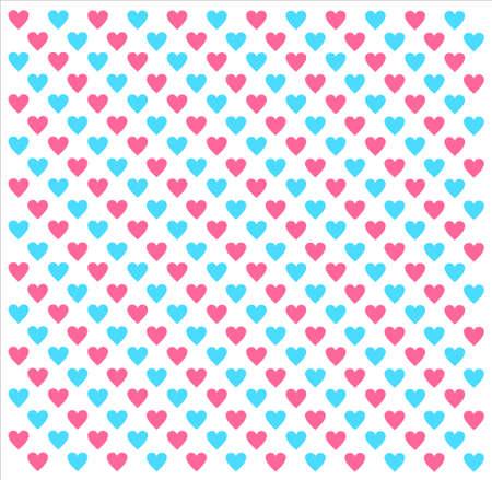 corazones azules: Corazones rosados ??y azules sobre un fondo blanco