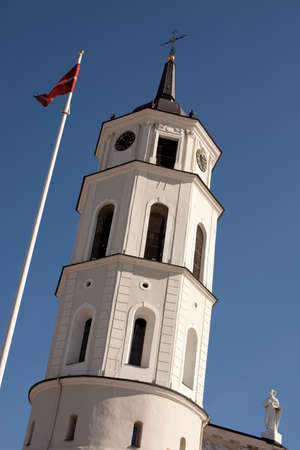 sainthood: Belfry of Vilnius Cathedral in Vilnius, Lithuania