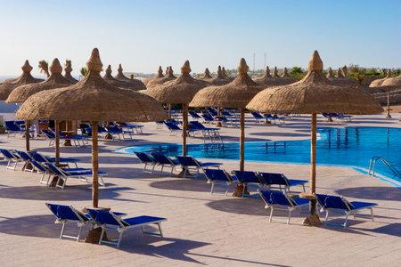 el sheikh: Pool in some hotel yard in Sharm el Sheikh Editorial