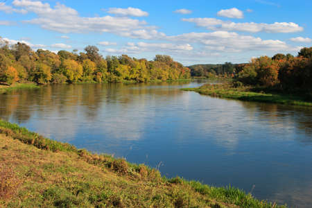 rive: Neris river near Vilnius in the autumn. Neris is the second biggest rive of Lithuania.