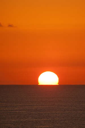 sunup: Optical illusions during the sunrise in the Red Sea, Sharm al-Sheikh, Egypt