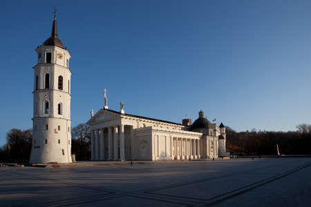 sainthood: Cathedral square in Vilnius, Lithuania Stock Photo