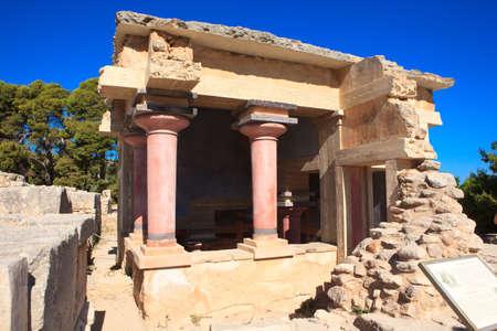 minoan: Knossos Minoan Palace in Crete, Greece Stock Photo