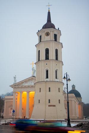 sainthood: Vilnius Cathedral at dawn