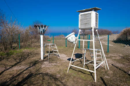 meteorological: Old meteorological station in Vente Cap, Lithuania Stock Photo