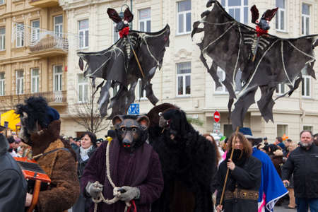 tradespeople: VILNIUS, LITHUANIA - MARCH 7: Theatricalized procession during annual traditional crafts fair - Kaziuko fair on Mar 7, 2009