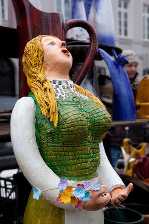 lithuanian: VILNIUS, LITHUANIA - MARCH 7: Annual traditional crafts fair - Kaziuko fair on Mar 7, 2009