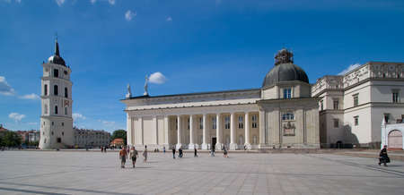 sainthood: Cathedral Square in Vilnius Editorial