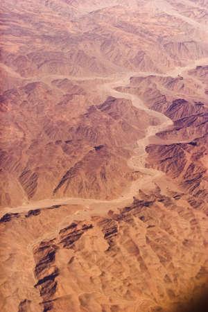 sinai peninsula: Sinai peninsula, Egypt. Aerial view. Stock Photo