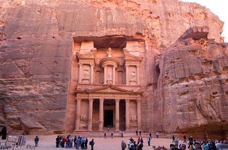 musa: Ancient city of Petra in Jordan Editorial