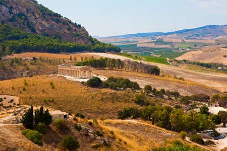 segesta: Doric temple of Segesta in Sicily, Italy Stock Photo