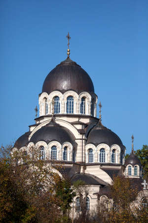 the church of our lady: Our Lady of the Sign Church, the orthodox church in Vilnius, Lithuania Stock Photo