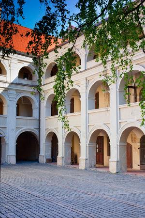 vilnius: Alumnat (Alumnatas), one of Vilnius University courtyards in Vilnius, Lithuania Editorial