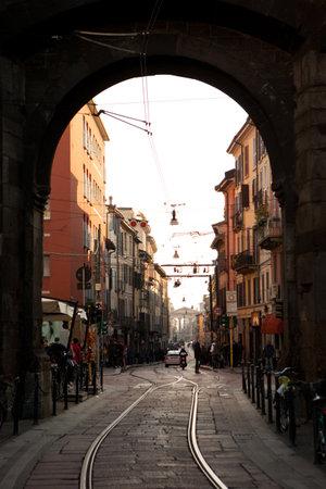 ticinese: MILAN, ITALY - NOV 2: Busy urban life in the street of Milan, Italy on 2 November, 2012.