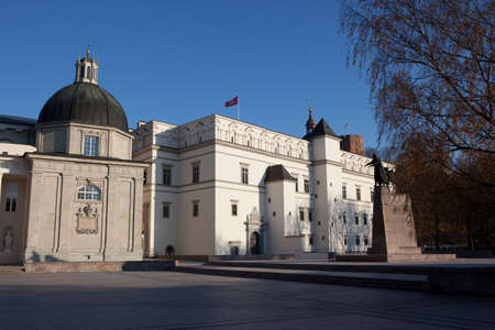 reconstruct: Reconstructed Royal Palace of Lithuania in Cathedral Square in Vilnius, Lithuania