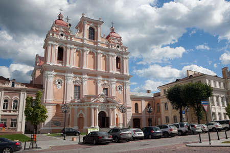 casimir: The Jesuit Church of  St. Casimir in Vilnius old-town, Lithuania Stock Photo