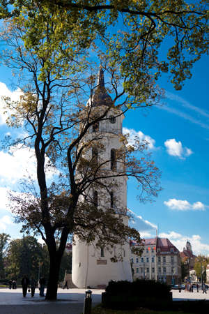 sainthood: Belfry of Vilnius Cathedral, one of the main landmarks of Vilnius Stock Photo