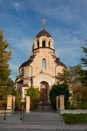 our lady: Our Lady of the Sign Church, the orthodox church in Vilnius, Lithuania Stock Photo