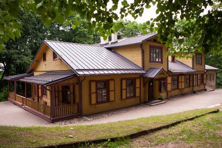 literary: Vilnius, Lithuania - June 5, 2013: Museum of Russian poet Alexander Pushkin in Markuchiai park on June 5, 2013 in Vilnius, Lithuania.  It is founded in 1948, the first literary museum in Vilnius.
