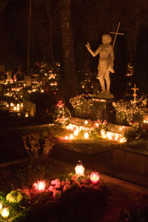 all souls day: All Souls Day in Lithuanian Graveyard