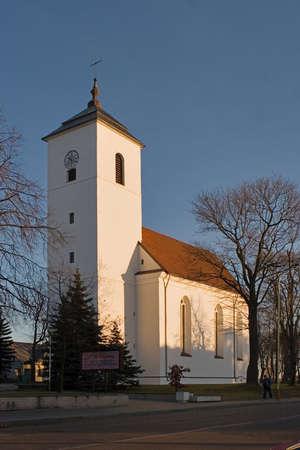 evangelical: Kelme evangelical reformat church Lithuania Stock Photo