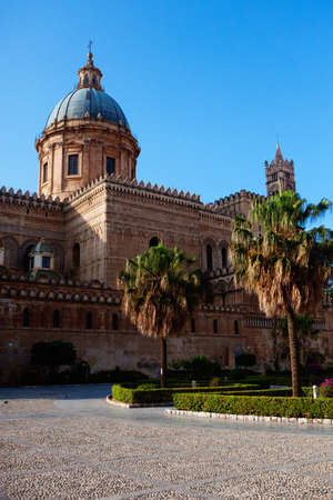 palermo: Cathedral of Palermo - architectural complex in Palermo, Sicily, Italy Stock Photo