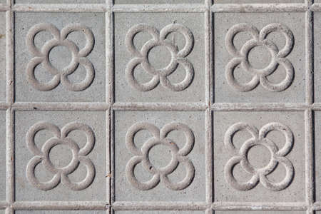 Barcelona typical floor tiles with a flower motif