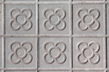 Barcelona typische vloertegels met een bloemmotief