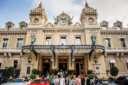monte carlo: Monte Carlo, Monaco - November 4, 2016: Entrance to the Grand Casino in Monte Carlo, Monaco.  Grand Casino is one of the most notable buildings in Principality.