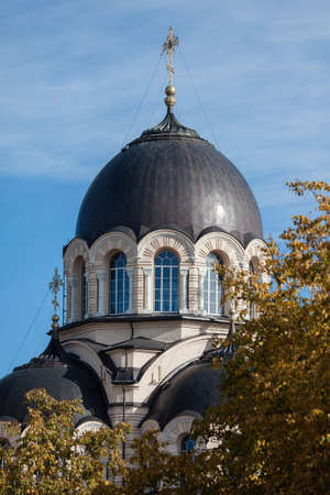 church of our lady: Our Lady of the Sign Church, the orthodox church in Vilnius, Lithuania Stock Photo