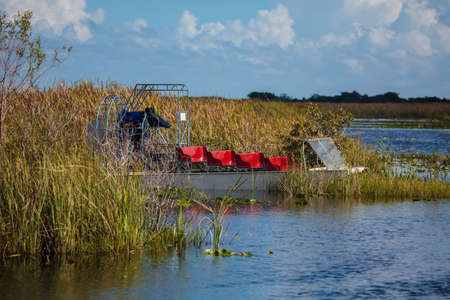 Boat tour through the marsh in the Everglades National Park, Florida, USA