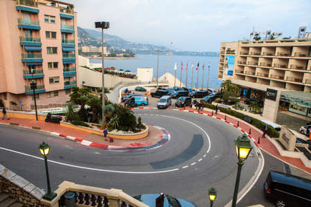 Monaco, Monte Carlo - November 4, 2016:  The Fairmont Hairpin or Loews Curve, a famous section of the Monaco Grand Prix and the slowest corner in Formula One.
