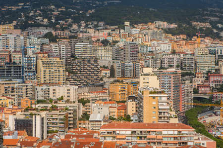 Monaco, Monaco-Ville - November 4, 2016: Densely populated residential district of Monaco. Monaco is the second smallest and the most densely populated country in the world.