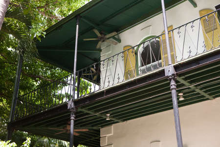 Key West, Florida, USA - October 6, 2017: Hemingway House, the home of famous author Ernest Hemingway, which is now a museum. Editorial