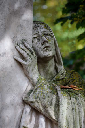 Statue in the Bernardine Cemetery, one of the three oldest cemeteries in Vilnius, Lithuania