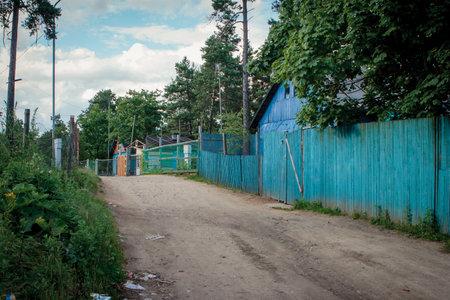 Vilnius, Lithuania - June 28, 2008: The Roma encampment (Gypsy tabor) of Vilnius. The settlement of ethnical minority in Kirtimai district.