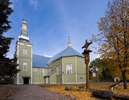 Prienai, Lithuania - October 15, 2017: Catholic Church of Revelation of Christ in Prienai, Lithuania.
