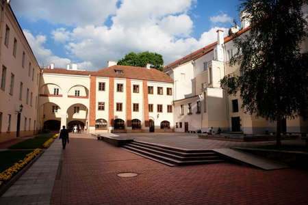 Vilnius, Lithuania - May 27, 2010: Grand Yard of Vilnius University, the oldest university in the Baltic states and one of the oldest in Eastern Europe, founded in 1579.