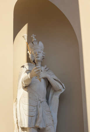 Statue of lithuanian duke on the wall of Vilnius Cathedral, Lithuania