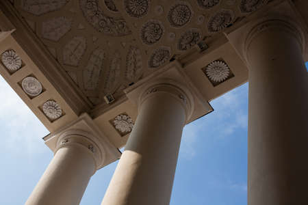 Ceiling of the portico in Vilnius Cathedral, Lithuania Editorial