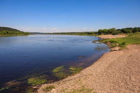 River Nemunas near Zapyskis and Vilkija, Lithuania Stock Photo