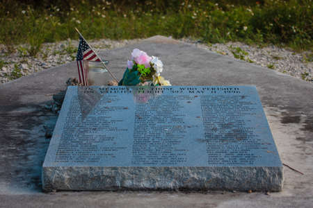 Everglades, FL, United States - October 5, 2016: Memorial, dedicated to the victims of crash of ValuJet Flight 592 aircraft on May 11, 1996 in Everglades.