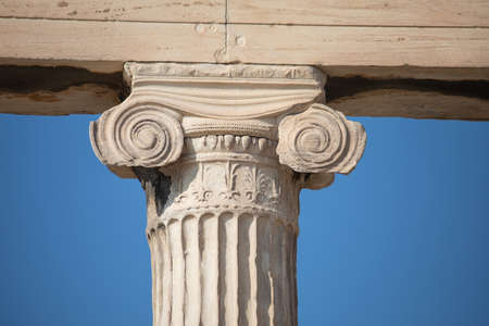 Ionic capital at the Erechtheum, Athens in Greece, 5th century BC Archivio Fotografico