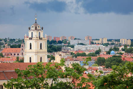 Church of Sts. Johns and its bell tower, part of the Vilnius University complex. Vilnius, Lithuania. Stock fotó