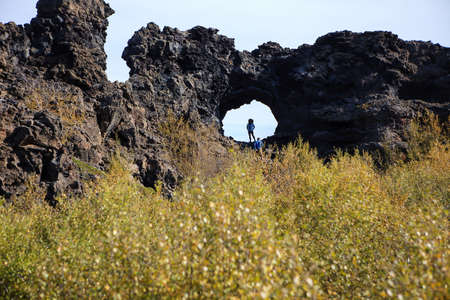 Dimmuborgir, a large area of unusually shaped lava fields, east of Myvatn, Iceland.