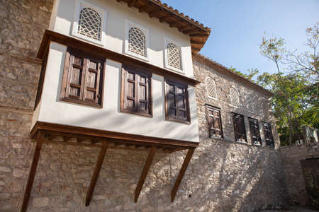Athens, Greece - October 25, 2018: The Benizelos Mansion, which is also known as the House of Agia Filothei, is the oldest house in Athens, now it is a museum. Editorial