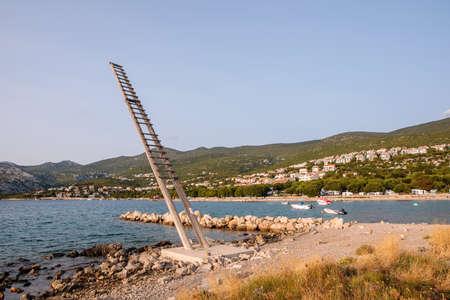 Fishing platform, named tunera for the monitoring of tuna fish in Klenovica, Croatia
