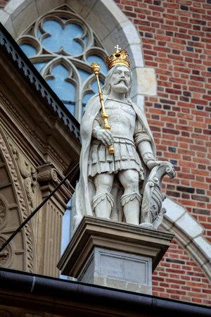Statue in the Wawel Royal Castle in Krakow, Poland