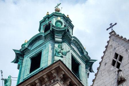 Wawel Cathedral of Wawel Royal Castle in Krakow, Poland Editorial
