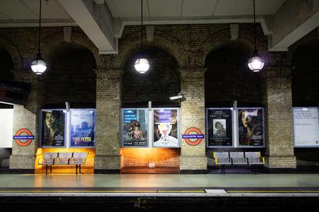 London, United Kingdom - May 4, 2019: Famous London Underground station of Gloucester Road.